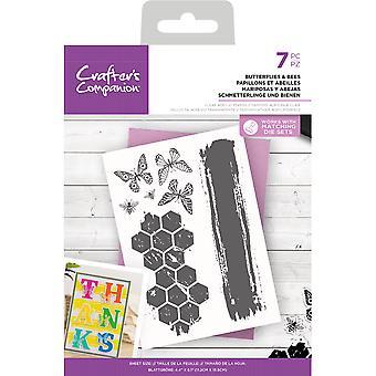 Crafter's Begleiter Schmetterlinge & Bienen clear Stamps
