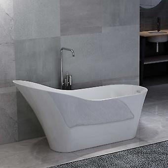 Freistehende Badewanne Weiß Acryl 210 L