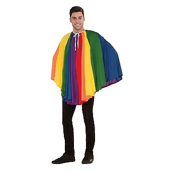 Bristol Novelty Unisex Adults Short Rainbow Cape