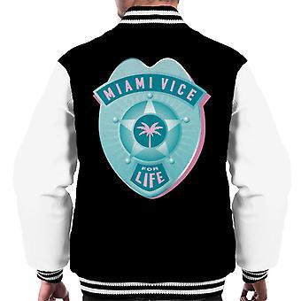 Miami Vice For Life Police Badge Men's Varsity Jacket