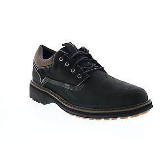 Skechers Alley Way Kranston  Mens Black Plain Toe Oxfords Shoes