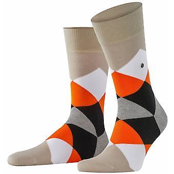 Burlington Clyde Calcetines - Toalla Beige/Naranja/Blanco