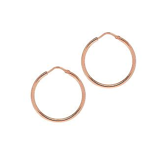The Hoop Station Chica Latina Rose Gold Plated 27 Mm Hoop Earrings H120R