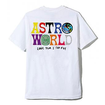 Astroworld White Tee Uite Mama Pot zbura Travis Scott Tricou
