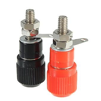 1 par sort rød lydforstærker Terminal Binding Post Banana Plug Jack Connector
