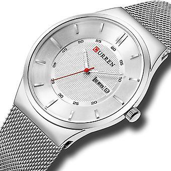 CURREN 8311 Ultra Tynd Casual Style Kvarts Watch Dato Uge Display Vandtæt M