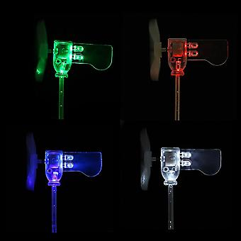 Red Green White Blue Vertical DIY Small Dc Motor LED Windmill Turbines Wind Generator Model