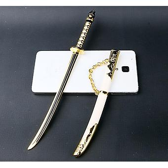 Black Yellow Black Embroidered Spring Knife
