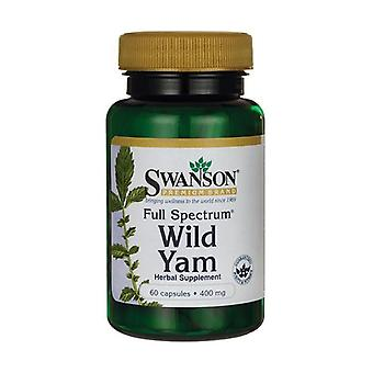 Full Spectrum Wild Yam, 400mg 60 capsules