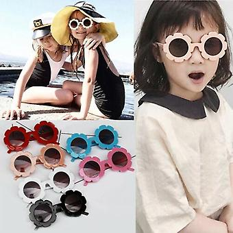 Lovely Protection Sun Glasses- Kids Shades Flowers Adorable Cute Made (black)