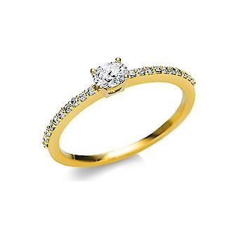 Luna Creation Promessa Solitairering con ribete lateral 1U626G854-5 - Ancho del anillo: 54