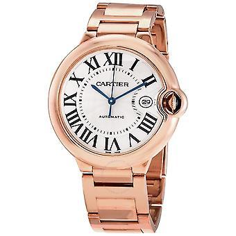 Cartier Ballon Bleu Automatic Men's 18kt Rose Gold Watch WGBB0016