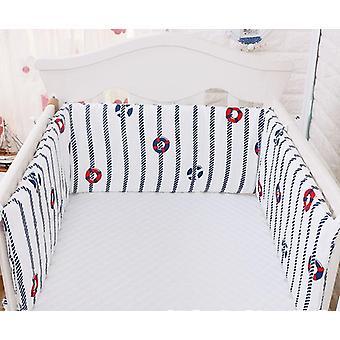 Parachoques plegable para ropa de cama para bebés en la cuna, algodón recién nacido, lino, una sola pieza,