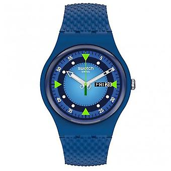 Relógio de silicone Swatch So29n701 Blue Blend