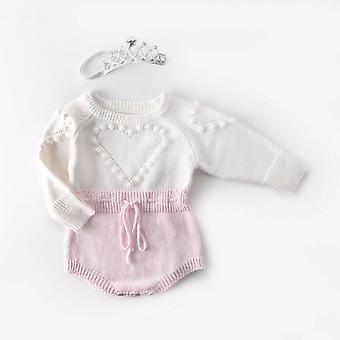Lovely Heart Baby Knitted Clothes, Romper Jumpsuit