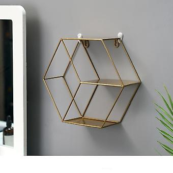 Nordic iron grid wall mountable shelves