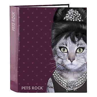 Ring binder Pets Rock A4