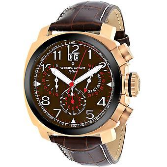 Christian Van Sant Men's Grand Python Brown Dial Watch - CV3AU4