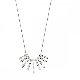 Beginnings Sterling Silver Bar Drop With Frosted Finish Necklaces N4298