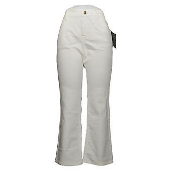 IMAN Global Chic Women's Jeans 14 Illusion Denim Bootcut White 734928100