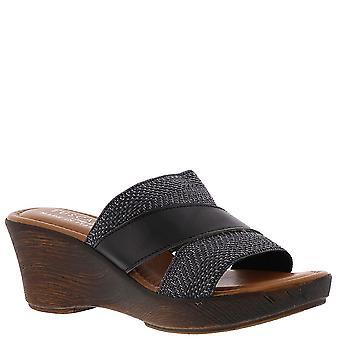 Easy Street Positano Wedge Sandals, Black