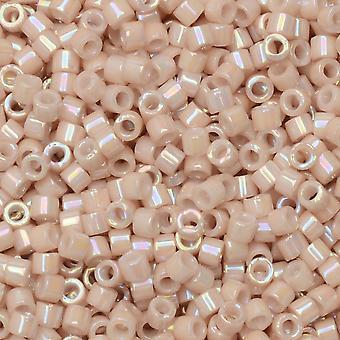 Perline di semi Miyuki Delica, taglia 11/0, tubo da 7,2 grammi, #1505 champagne rosa opaco