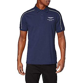 Hackett Amr Shoulder Detail T-shirt, Blue (Blue 551), Medium Man