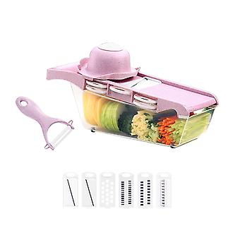 Wheat material with hand guard 6 blade pink multifunctional cutters potato silk cucumber Graters