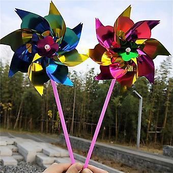 Kunststoff-Windmühle, Pinwheel, Spinner Kinder Spielzeug, Garten, Rasen Party Dekor,,