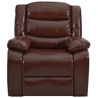 vidaXL rozkładane krzesło Braun skóra syntetyczna