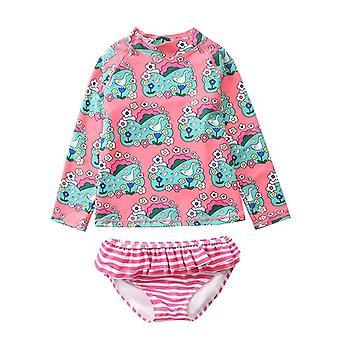 Dziewczyny Ins Unicorn Stroje kąpielowe, Rash Guards Beachwear Set