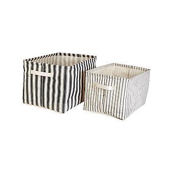 Sass & Belle Ticking Stripe (Set di 2) Cestini di stoccaggio