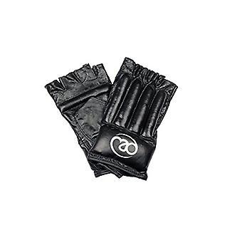 Fitness Mad Leder Fingerless Tasche Handschuh Medium Schwarz