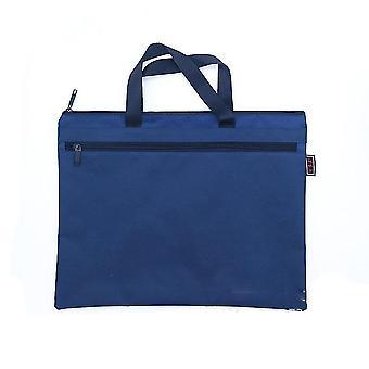 حقيبة وثيقة A4 زيبر حقيبة قماش حقيبة يد رجالية حقيبة دفتر بسيطة طية Gusset
