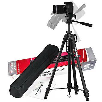 المحمولة الألومنيوم السفر ترايبود الوقوف لDSLR كاميرا كاميرا WF-3560 (أسود)