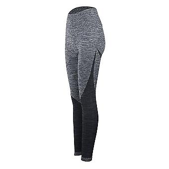 Women's Yoga Pants Stretch Tight Quick-drying Fitness Pants(Grey)