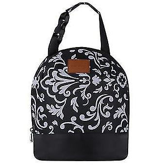 Oxford Insulated Lunch Bags Portable Thermal Box Food Picnic Bento Cooler Tote insulated(Black)