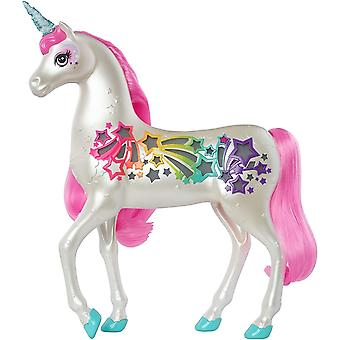 GFH60 Dreamtopia Brush 'n Sparkle Unicorn with Lights and Sounds, White with Pink Mee and Tail