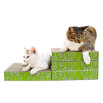 CP-095 4 in 1 Double Sided Folding Cat Scratch Board Corrugated Paper Cat Grinding Claw Toy