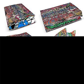Playstation 5 PS5 Disk Console Skin Vinyl Cover Dekal klistremerker + 2 Kontroller Skins Sett