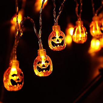 Decorative Halloween Pumpkin String Lights-2.5m 20 LED Outdoor String Lights(Yellow)
