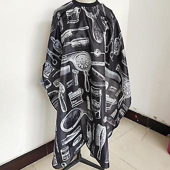 2020 New Haircut Hairdressing Barber Cloth Skull Pattern Apron Polyester Cape Hair Styling Design Supplies Salon Barber Gown