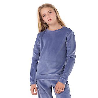 Girls Ultra-Soft Velour Long Sleeve Sweater