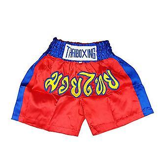 Dospelí Boxerské nohavice Satén červené modré pásy