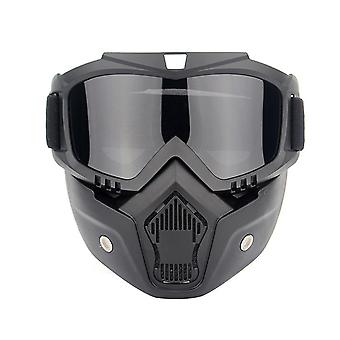 Outdoor chairs motorcycle helmet riding goggles glasses detachable fog-proof warm goggles-grey