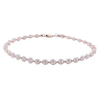 9K Geelgoud kubieke Zirconia kralen armband verjaardag / verjaardag 7 '' 0.4ct