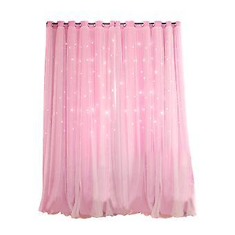 Star Blackout Window Curtains Room Gauze Drapes Blind For Kids Boy Girls Bedroom