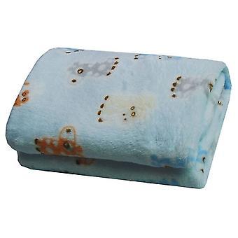 Super Soft Warm Pet Flannel Blanket Cushion Blue Deer Sleeping Pad Cushion