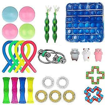 26buc Extrudare Fidget Jucării Set Copii Push Pop Bubble Stress Relief Toys
