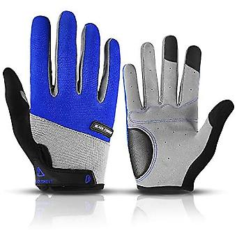 Full-finger Touch Screen Cycling Gloves, Winter Non-slip Mountain Bike/dh Outdoor Cycling Gloves, Shock Absorption And Ventilation, Exercise, Men/wome